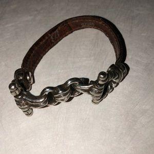 Brighton leather silver bracelet